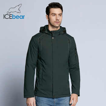 ICEbear 2019 new autumnal men's coats windbreaker warm apparel cotton padded detachable hat brand hooded man jacket MWC18120D - DISCOUNT ITEM  63% OFF All Category
