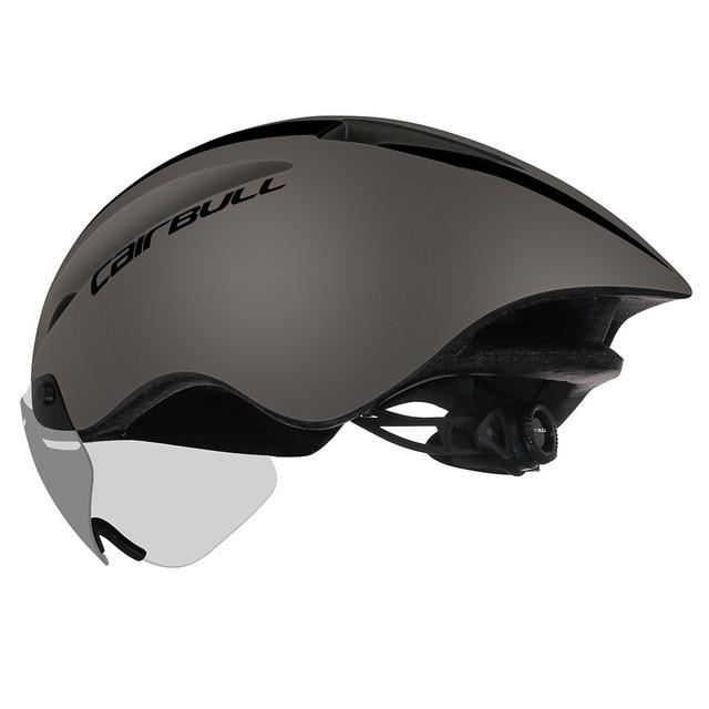 Cairbull ciclismo capacete aero tt corrida de estrada mtb capacete da bicicleta com óculos magnéticos pneumático capacete casco con gafas 3 lente 3