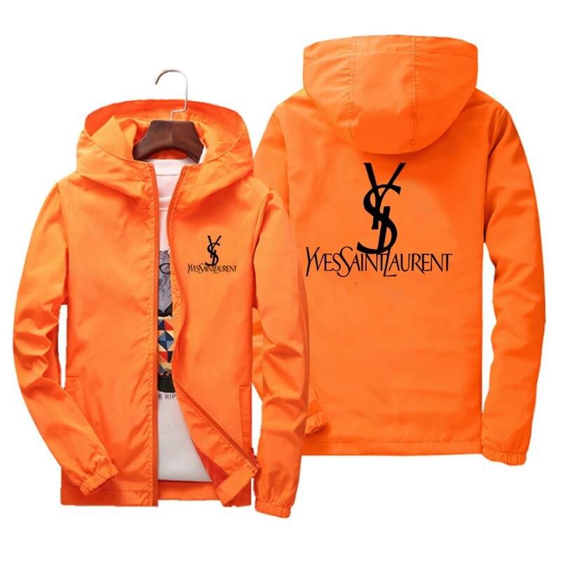 brand clothing Jacket 2020 Spring/Fall Men's Hooded Jacket Fashion Printing Windbreaker Waterproof Casual Jacket Zipper Coat 4