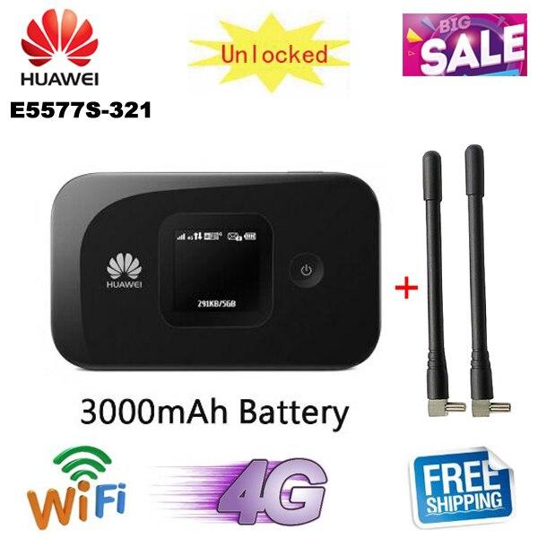 Desbloqueado huawei e5577 E5577s-321 150Mbps 3000mAh Bateria huawei e5577 Cs-321 4G LTE móvel wi-fi router bolso wifi hotspot