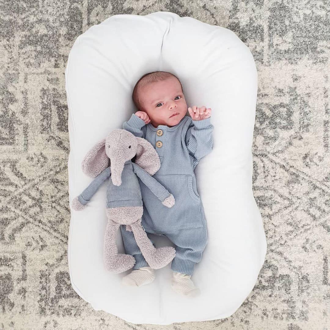 75*45cm Baby Portable Bed Crib Baby Nest Newborn Lounger Infant Cotton Cradle Newborn Bumper Bed Travel Babynest
