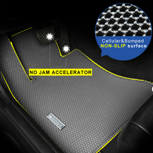 Image 5 - Honeycomb dual double layer Design Car Floor Mat Hides Dirt EVA carpet for VW Golf Polo Beetle CC Magotan Passat Tiguan Touran