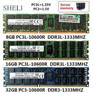 Серверная память SHELI RDIMM ECC Reg, 8 ГБ/16 ГБ/32 ГБ, память R, Гц, 240-контактный RDIMM