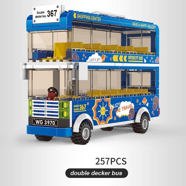 2020 new blocks duplos bus model city bus toy legINGlys friends bus 1