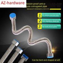 304 aço inoxidável corrugado tubo de alta pressão à prova de explosão aquecedor de água mangueira de entrada bacia de conexão de toalete tubo de saída