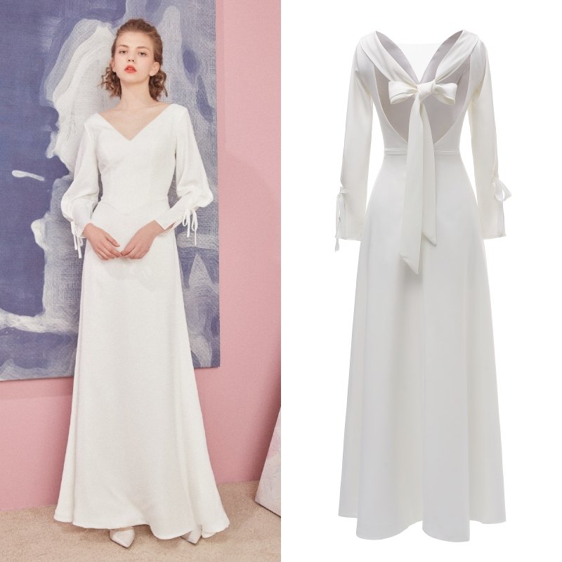 Special Design Soft Satin REAL PHOTO Factory Price Bridal Wedding Dress Bride Gown Evening Dress Cheap Price