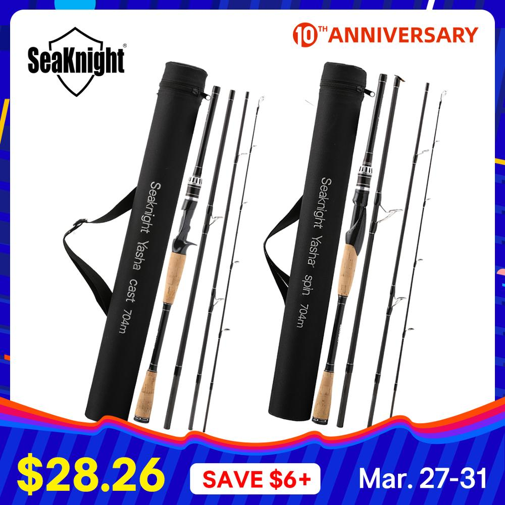 Seaknight Fishing-Rod Travel-Rod Power-Carbon-Fiber Spinning/casting 4-Section M 10-30g title=