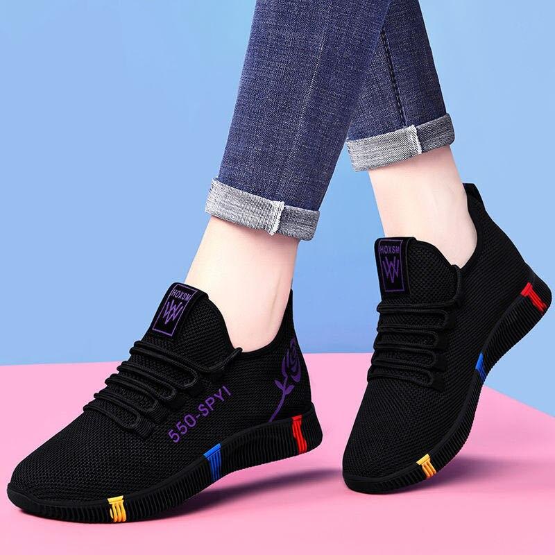USHINE gorąca sprzedaż buty czy biegania wygodne damskie sneakersy oddychające antypoślizgowe odporne na zużycie do chodzenia na zewnątrz
