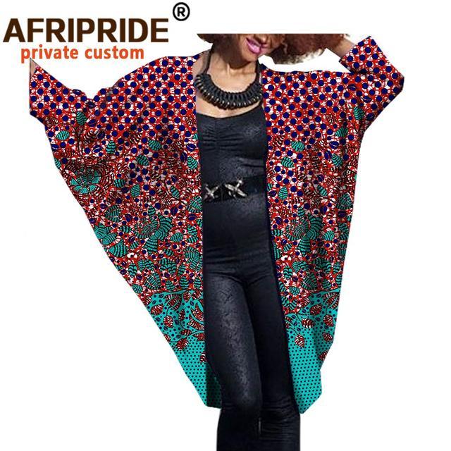 Фото 2020 модное африканское женское пальто летучая мышь afripride