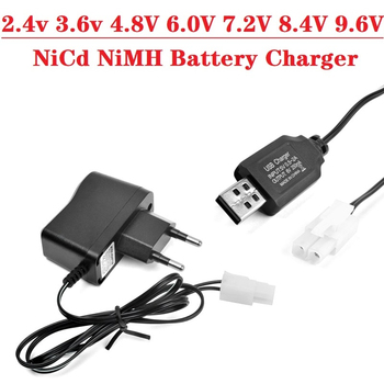 (Tamiya Kep-2p Plug) 2.4v 3.6v 4.8V 6.0V 7.2V 8.4V 9.6V NiCd NiMH Battery Charger For RC toys Robot Car Boat Tank Guns Charger image
