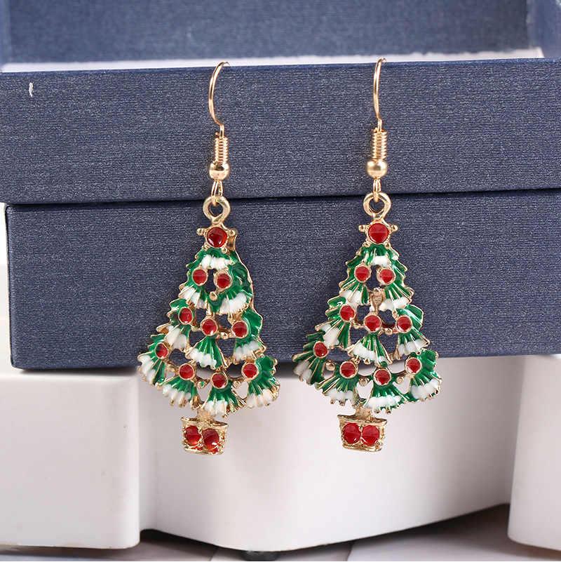 2019 Рождественская елка Санта Клаус серьги кулон Рождественское украшение для дома Рождественский Декор счастливый новый год 2020 горячая распродажа