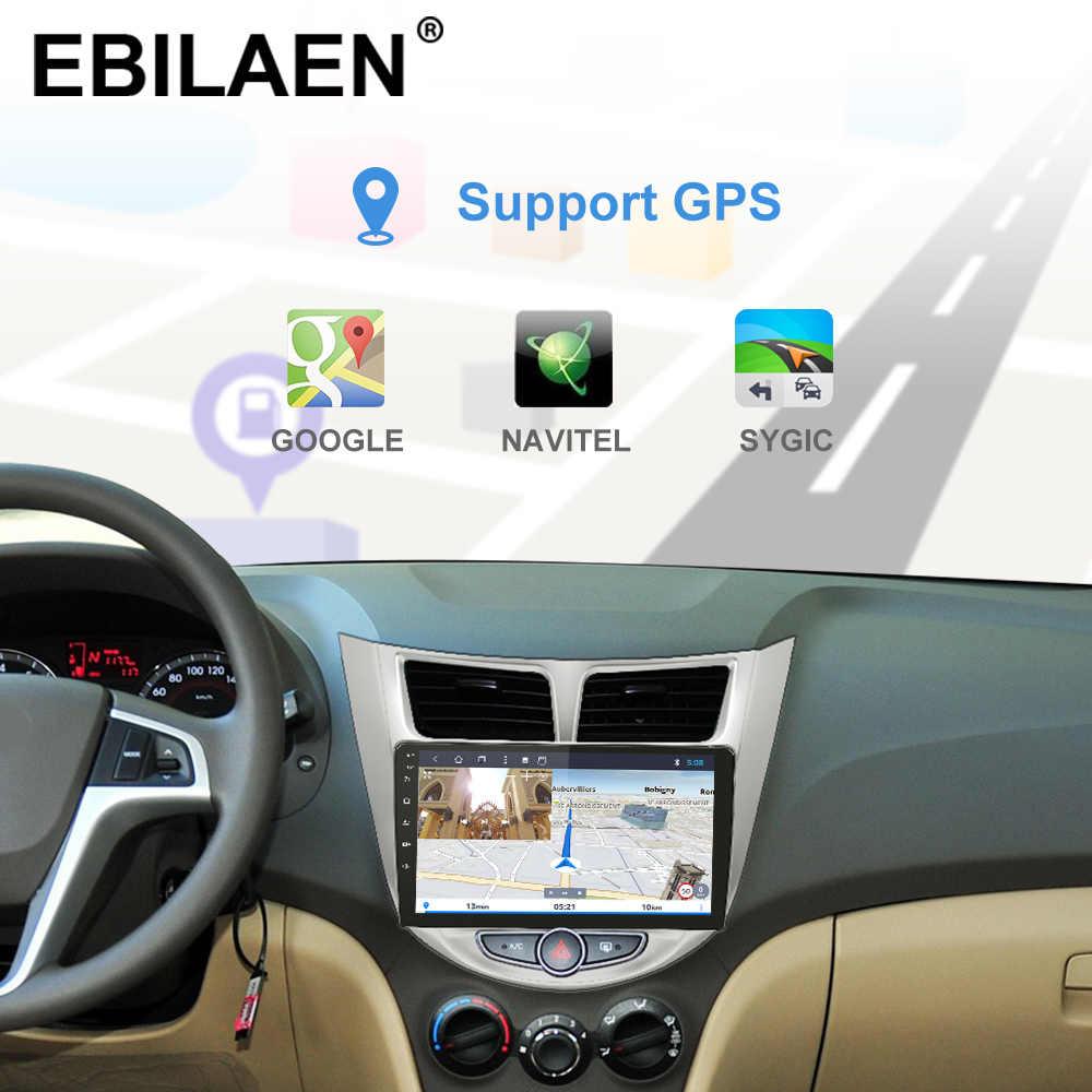 Ebilaen アンドロイド 9.0 カーラジオマルチメディアプレーヤーの solaris アクセント verna 2Din 車 autoradio gps ナビゲーションビデオオーディオ