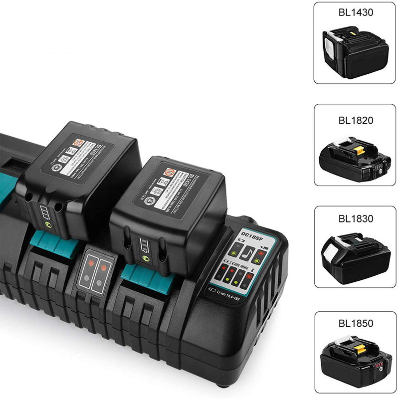 DC18RC Li-ion Battery Charger for Makita 18V 14.4V BL1830 Bl1430 DC18RD DC18SF Power tool 3A Charging Current with USB port new