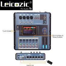 Leicozic MD200 Мини цифровой микшер Подключение к ПК по wifi или USB цифровой микшерный пульт экран Осязаемый для полос, концертов, вечеринок