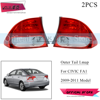 ZUK 2PCS Outer Outside Taillight Taillamp Rear Tail Light Rear Brake Lamp For HONDA CIVIC FA1 CIVIC HYBIRD FA3 2009 2010 2011