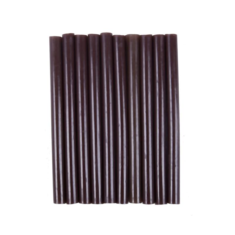 10pcs 100mm X 7mm Adhesive Hot Melt Glue Sticks For Hot Melt Glue Gun Brown