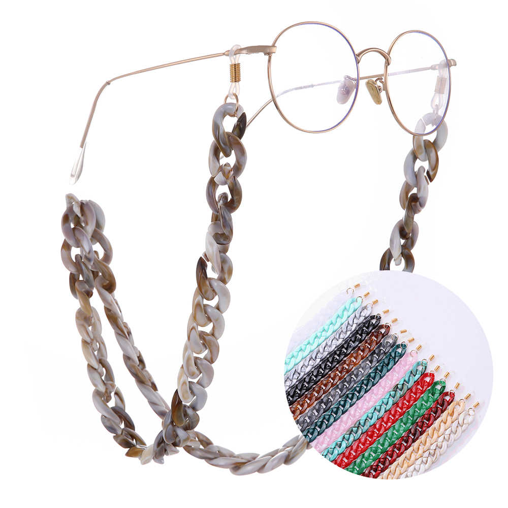 Skyrim Fashion Glasses Chain Wide Acrylic Anti-slip Reading Glass Cord Holder Neck Strap Rope Sunglasses Lanyards Strap 2019