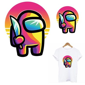 Among Us Game Thermo Heat Transfer Sticker On Clothes DIY A-Level Washable Kid T-Shirt Iron On Patches Decoration Appliqued image