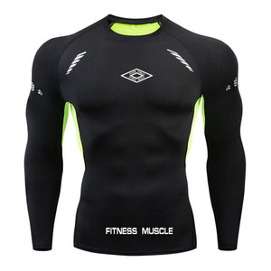 Image 5 - Newst Running Shirt Men Bodybuilding Sport T shirt Long Sleeve Compression Top Gym T Shirt Men Fitness Tight tshirts