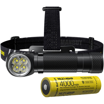 Discount NITECORE HC35 CREE 4LED 2700 Lumens Rechargeable Headlamp + 4000mAh 21700 Battery Flashlight for outdoor Hunting Hiking