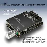 Amplificador de Audio Digital HIFI inalámbrico TPA3116 TPA3116D2 50WX2 Amplificador estéreo Amplificador Home Theater