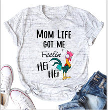 NCLAGEN 2020 Summer Women Mom Life Letter Chicken Printed Round Neck T-shirt Graphic Tees Vintage Top Omighty Harajuku Slogan(China)