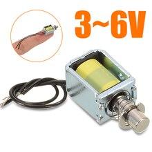 цена на New 3~6V Mini DC Solenoid Electromagnet Push Pull Through Type Electric Magnet For Household Appliances Magnet