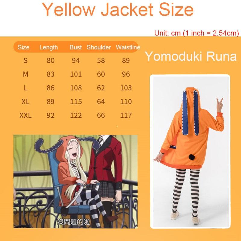 Yomoduki Runa Cosplay Costume Kakegurui Compulsive Gambler Runa Cosplay Wig and Orange Hooded Jacket JK Uniforms0 (18)