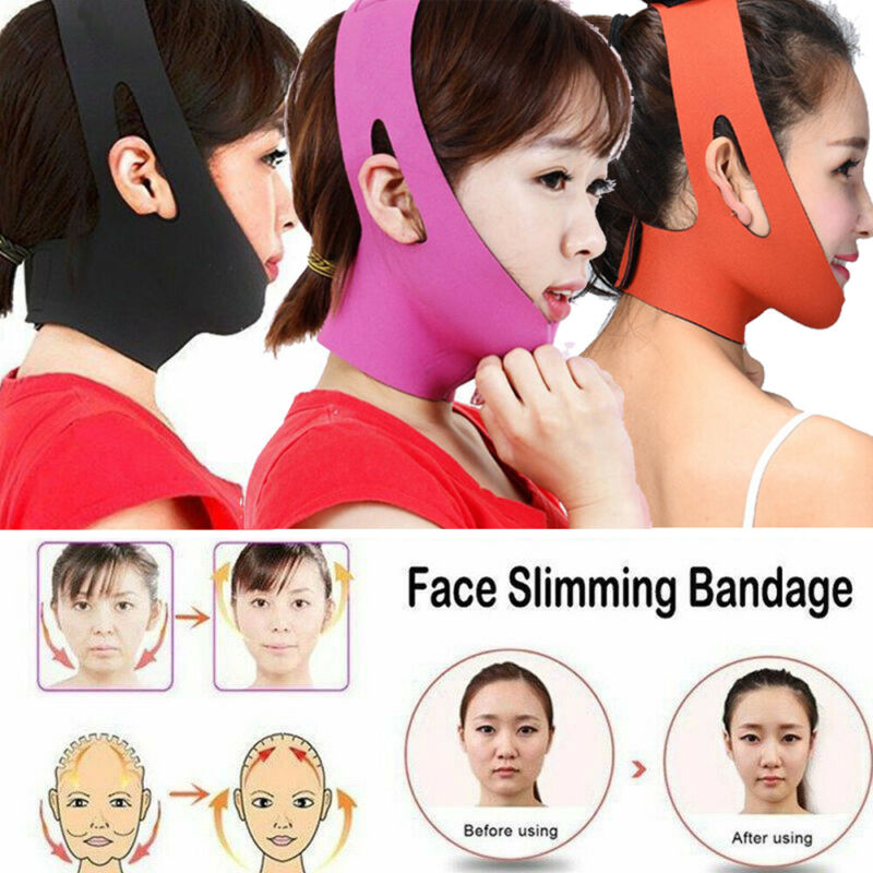 New V-Face Shaper Reduce Double Chin Slimming Bandage Mask Belt Shape Face-lift Bandage Belt Shape Facial Lift Strap Shape