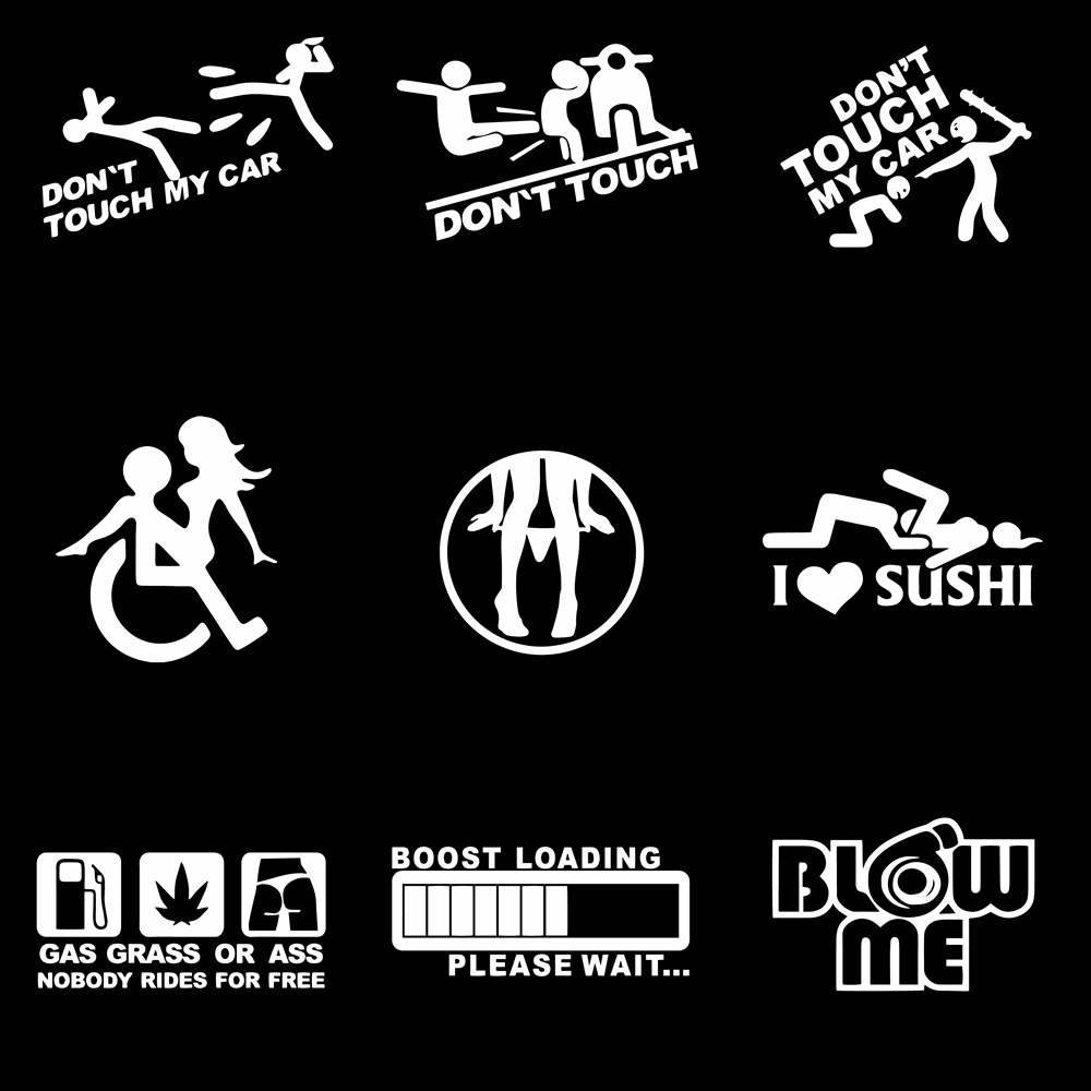 Забавная наклейка «Не прикасайтесь к моему автомобилю», наклейки для наклеек на автомобильное окно, Стайлинг автомобиля, Декор, аксессуары ...