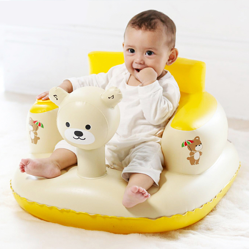 Infant Animal Shape Inflatable Sofa With Inflatable Pump Learning Seat Infant Dining Chair Multifunctional Portable Stool Toy