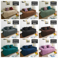 Universal Elastic All inclusive Fluff Waterproof Sofa Cover Couch Case Sectional Sofa Protector Solid Color Armrest Covers