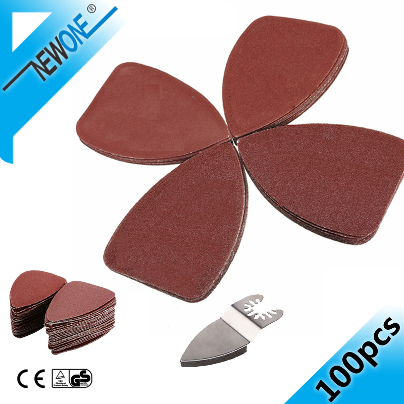 NEWONE Quick-release Oscillating Saw Blade Multitool Finger Sanding Pad With 25Pcs Sandpaper Sander Sheet For Perfect Sanding