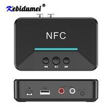Adaptador receptor de Audio BT200 Bluetooth 5,0 NFC 3,5mm AUX RCA Jack Hifi adaptador inalámbrico Auto para Kit de coche