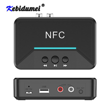 Hot BT200 Bluetooth 5.0 Audio Receiver Adapter NFC 3.5mm AUX RCA Jack Hifi Wireless Adapter Auto For Car Kit