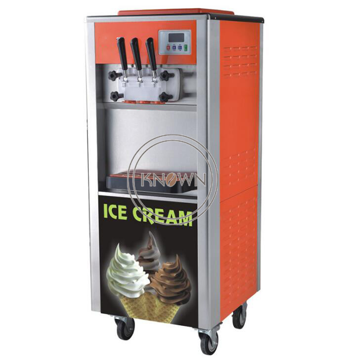 5% Discount 18L/H  Ice Cream Maker Stainless Steel Soft Ice Cream Machine Three Flavors Free Shipping By Sea