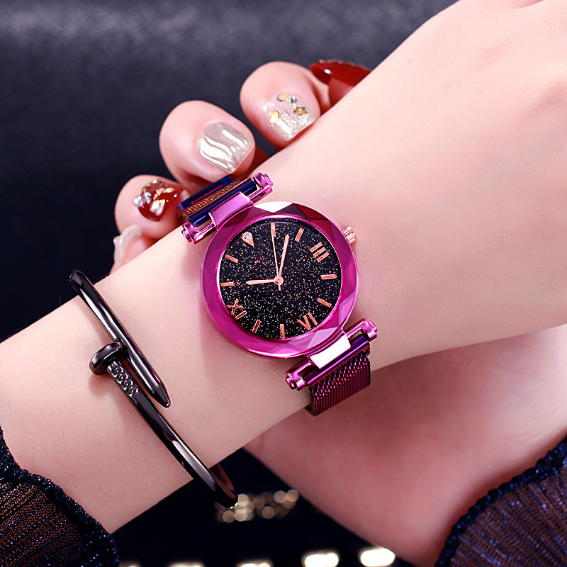 Top Luxury New Fashion Sport Watch Simple Starry Sky Women Ladies Casual Watch Magnet Mesh Band Women Watches Relogio Feminino