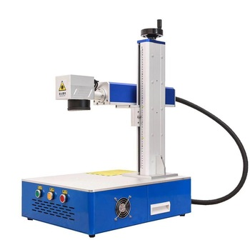 LCSPEAR 50W Fiber Laser Marking Machine With Rotary And Power Cable