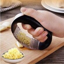 Crusher Peeler Ginger Garlic Cooking Black Kitchen-Tool And Press-Rocker Squeezer Stainless-Steel