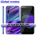 Quad core 7A 5MP + 13MP 6,0 zoll Globale version 3G wifi 4G RAM 64G ROM smartphones android handys gesicht ID entsperrt celulars