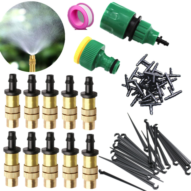 25m Misting Sprinkler Set Garden DIY Automatic Micro Drip Irrigation Self Watering Kits with Adjustable Nozzle|watering kit|drip irrigation system|self watering - title=