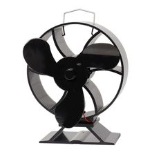 3 Blades Heat Powered Stove Fan for Log Wood Fireplace Burner Eco Friendly Quiet Fan