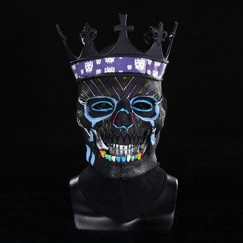 Watch Dogs 3 Legion Skull Mask Cosplay Horror BlackClassic Edition Skeleton Helmet Masks Halloween Party Costume Props frankenstein horror mask cosplay latex masks helmet halloween party costume props