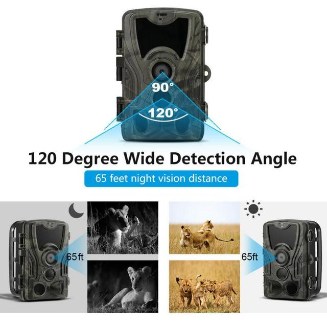 16MP 32GB/64GB Trail Camera IP65 Photo Traps 0.3s Trigger Time 940nm Wild Camera 1080P Waterproof  Hunting Camera 5