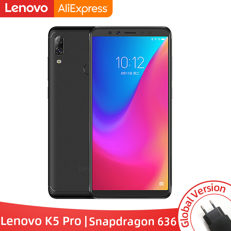 Global Version Lenovo K5 Pro 4GB 64GB Snapdragon 636 Octa Core Smartphone Four Cameras 5.99 Inch 4G LTE Phones