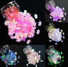14 Warna! 8 Mm Unicorn Bentuk Payet, Warna-warni Pelangi Bersinar Irisan 3D Nail Art Glitter Paillettes(China)