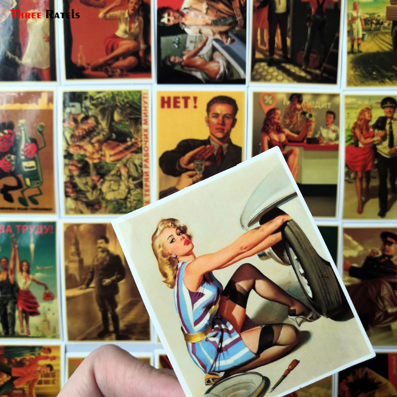 Three ratels 25 uds mixto Stalin USSR cccp cartel pegatinas Diy portátil equipaje Puerta de refrigerador decoración impermeable pegatina de juguete