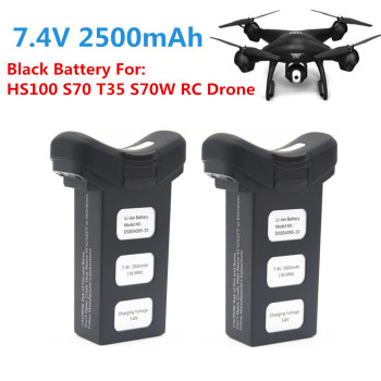 7.4V 2500mah Battery Accessories Black Battery For HS100 S70 T35 S70W RC Drone White battery For HS100 T35 S70W RC Drone Battery