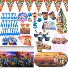 Disney Toy Story 4 вечерние принадлежности, подарочные пакеты на день рождения, Одноразовая чашка, тарелка, посуда, детский душ, вечерние баннеры дл...