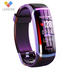 Lerbyee GT101 Smart watch men Bracelet real time monitor heart rate & sleeping best Couple Fitness Tracker pink fit women